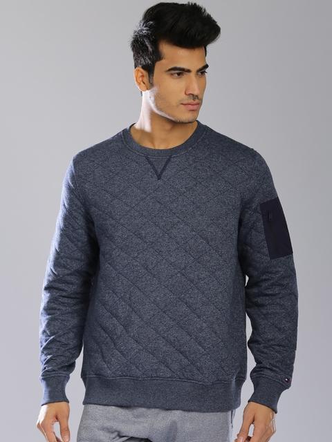Tommy Hilfiger Navy Quilted Sweatshirt