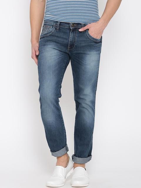 Wrangler Blue Greensboro Fit Stretchable Jeans