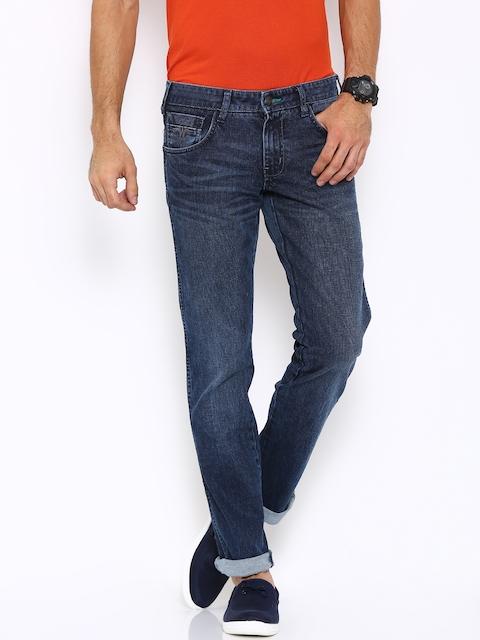 Wrangler Men Blue Regular Fit Low-Rise Stretchable Jeans