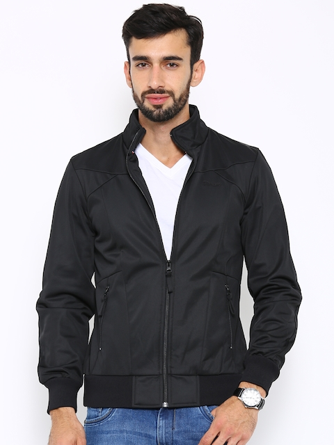 Wrangler Black Quilted Bomber Jacket  available at myntra for Rs.1478