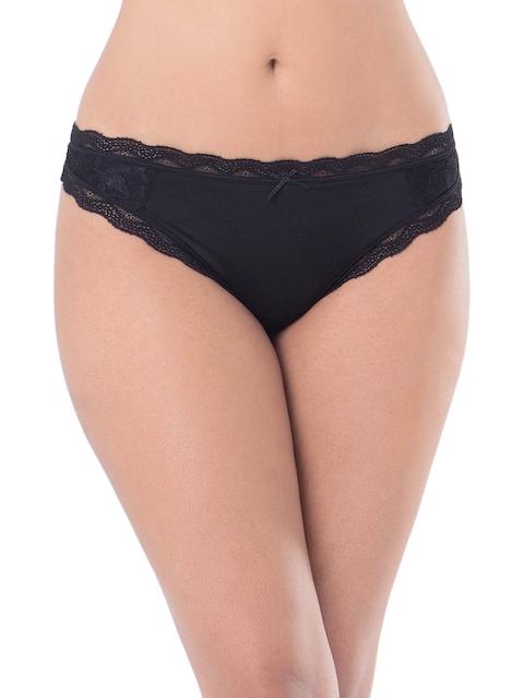 PrettySecrets Women Black Lace Bikini Briefs PSW16THG11A