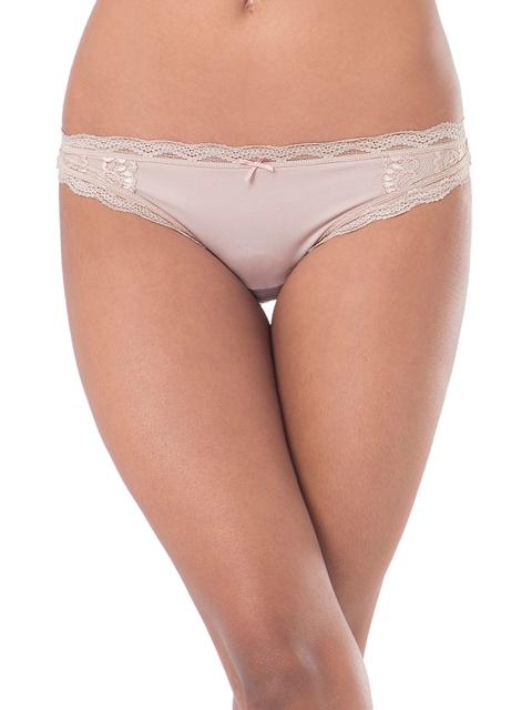 PrettySecrets Women Beige Lace Thongs PSW16THG11D