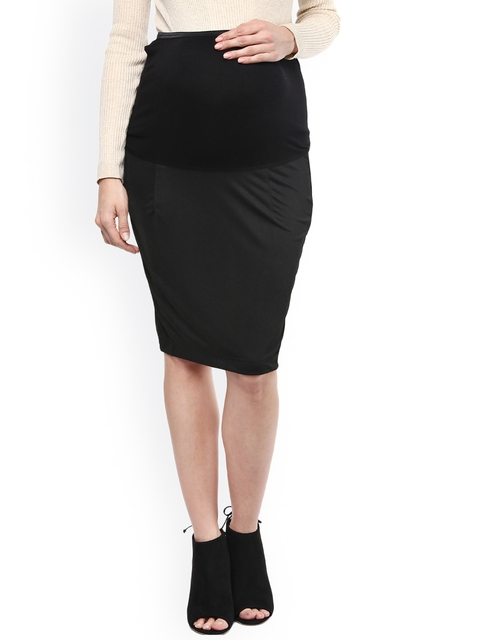 Mamacouture Black Maternity Pencil Skirt