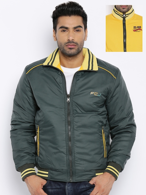 Fort Collins Yellow & Green Quilted Reversible Hooded Jacket