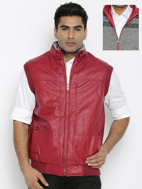 Fort Collins Red & Grey Quilted Reversible Jacket