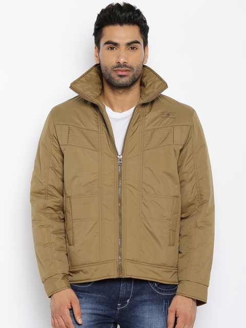 Fort Collins Beige Quilted Hooded Jacket