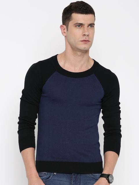 Allen Solly Navy & Black Sweater