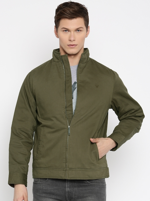 Allen Solly Olive Green Padded Jacket