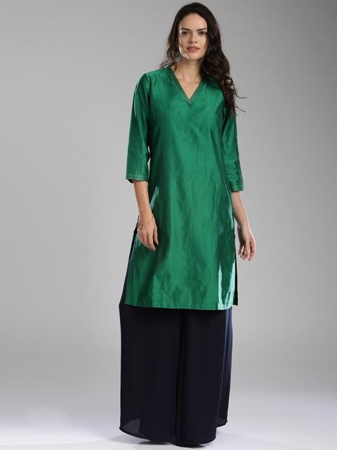 Fabindia Women Green Kurta