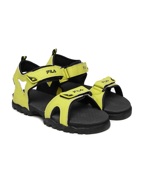 FILA Men Yellow Teo Sports Sandals  available at myntra for Rs.639