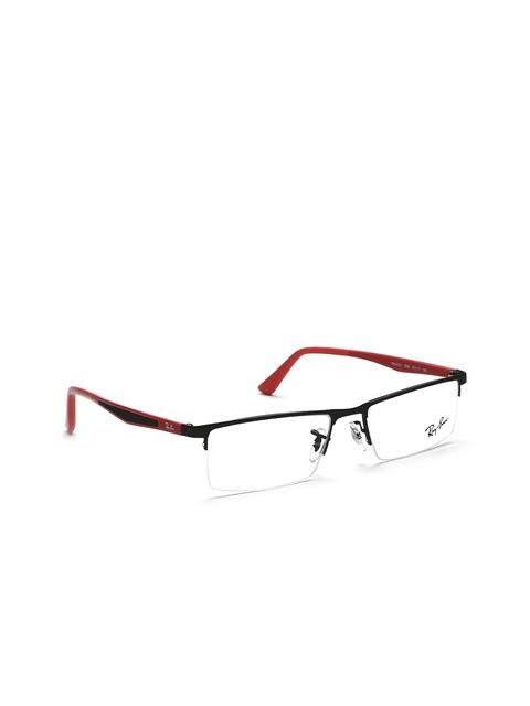 Ray-Ban Men Black Half-Rim Rectangular Frames 0RX6322I289953