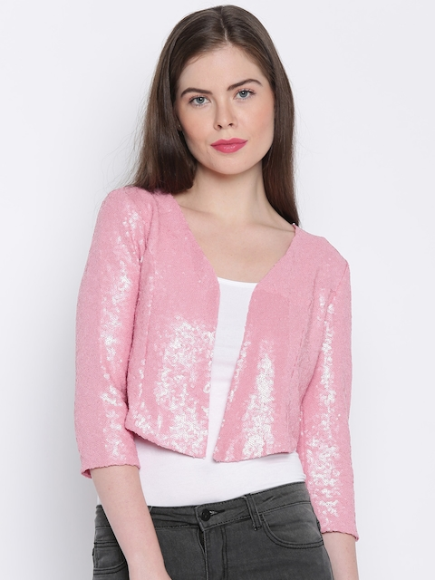 ONLY Pink Shimmery Crop Jacket