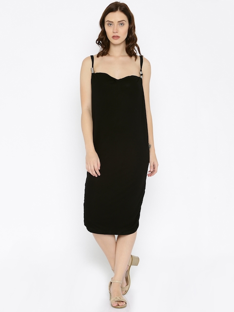 ONLY Women Black Solid Shift Dress