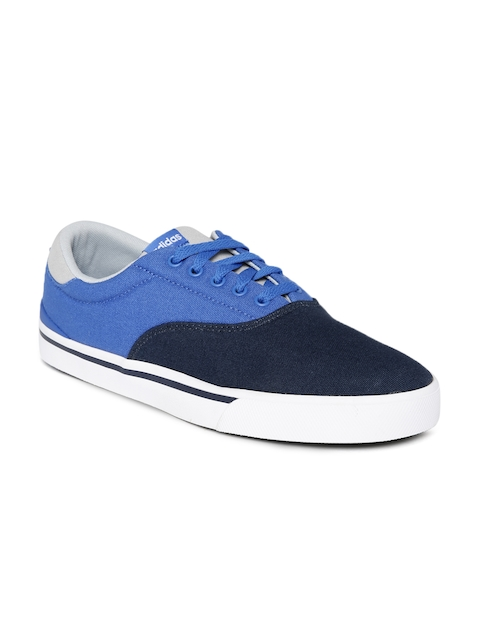 Adidas NEO Men Blue Colourblock Sneakers  available at myntra for Rs.1839