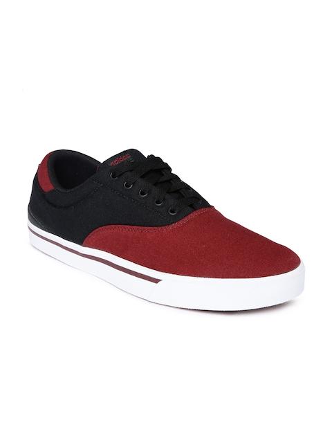 ADIDAS NEO Men Maroon Colourblock Regular Sneakers