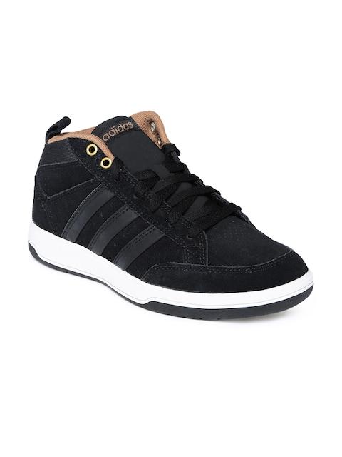 Adidas NEO Men Black Mid-Top Sneakers