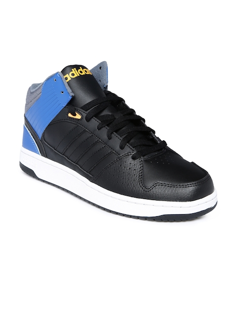 Adidas NEO Men Black Colourblock Sneakers  available at myntra for Rs.1979