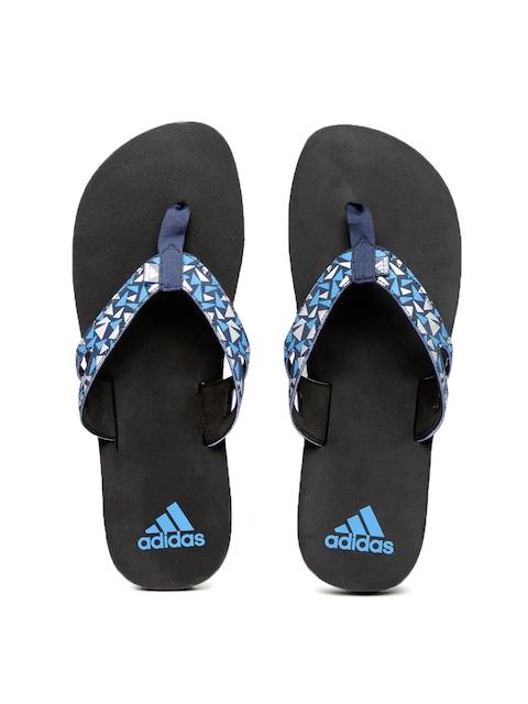 Adidas Men Navy Blue Printed Ozor MS Flip-Flops