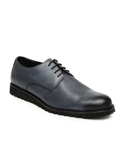 Bata Men Grey Edward Derby Shoes