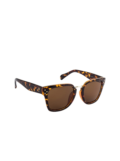Farenheit Brown Women Rectangle Sunglasses SOC-FA-96969-C13