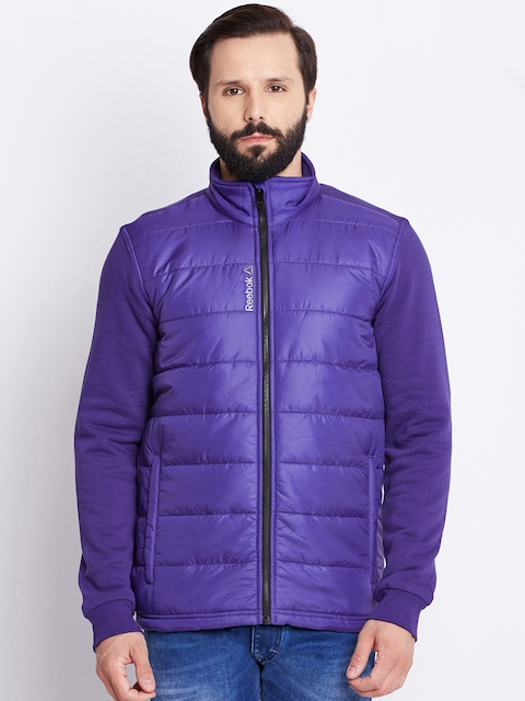 Reebok Men Purple M'S CORE Slim Fit Jacket  available at myntra for Rs.5099