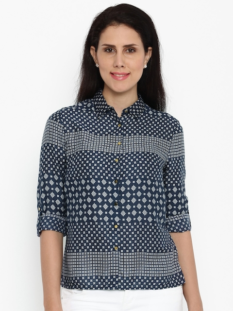 Van Heusen Woman Women Printed Casual Shirt