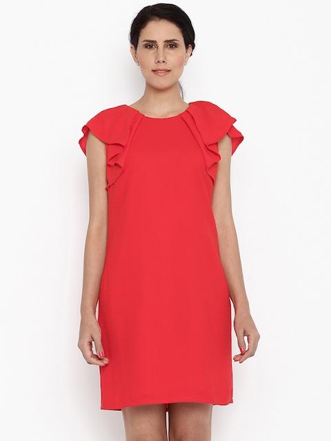 Van Heusen Woman Women Red A-Line Dress