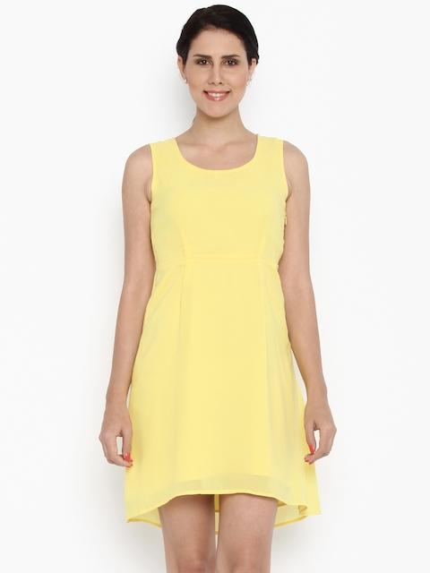 Van Heusen Woman Women Yellow A-Line Dress