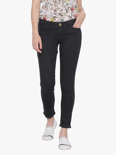 Van Heusen Woman Black Slim Fit Mid-Rise Clean Look Stretchable Jeans