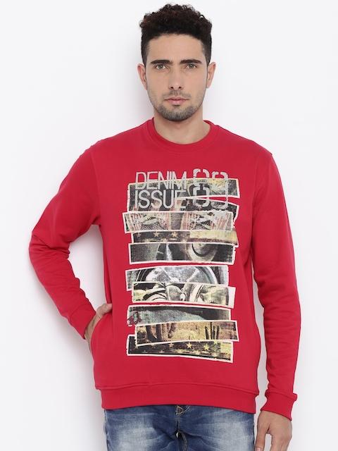 Killer Men Red Printed Pullover Sweatshirt