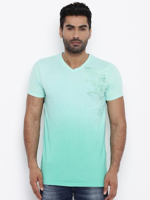 Killer Men Blue Printed T-shirt