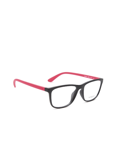 vogue Men Black & Coral Red Rectangular Frames 0VO5026I2369S55-2369S