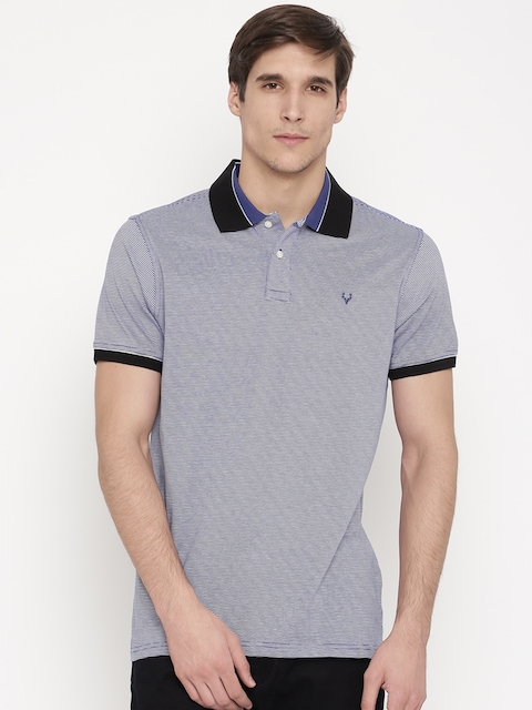 Allen Solly Men Navy Polo T-shirt
