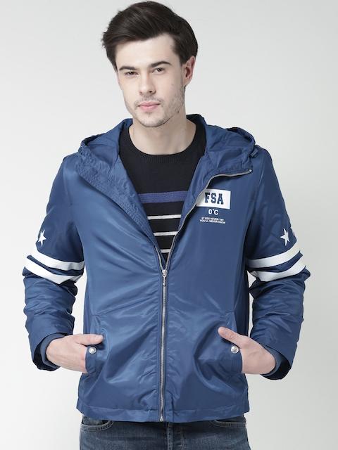 Metersbonwe Blue Hooded Jacket