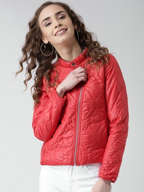 Metersbonwe Red Quilted Jacket