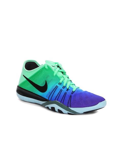 Nike Women Blue & Green Free TR 6 Training Shoes