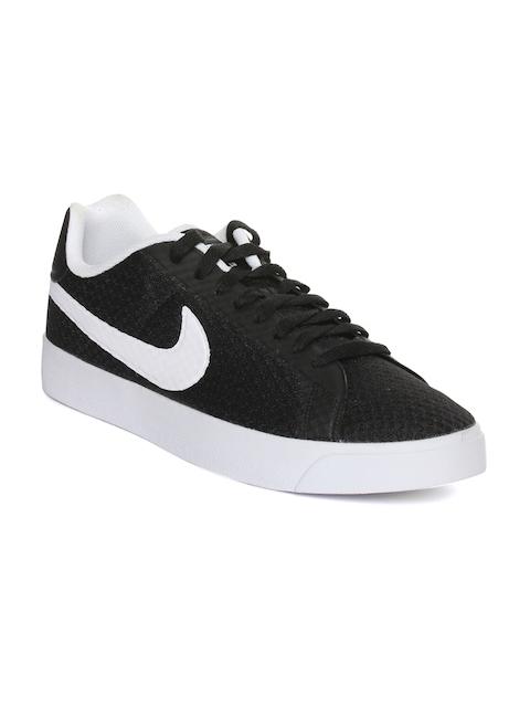 Nike Men Black Court Royale LW TXT Woven Regular Sneakers