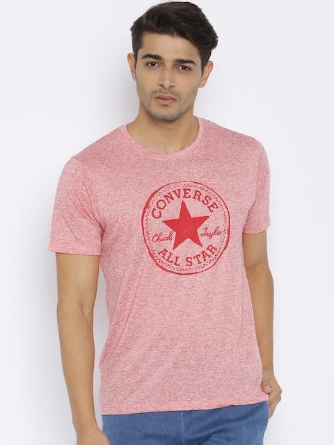 Converse Men Pink Printed T-shirt
