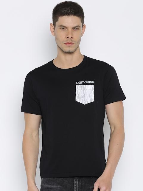 Converse Men Black T-shirt