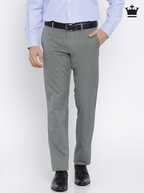 Louis Philippe Men Grey Trousers
