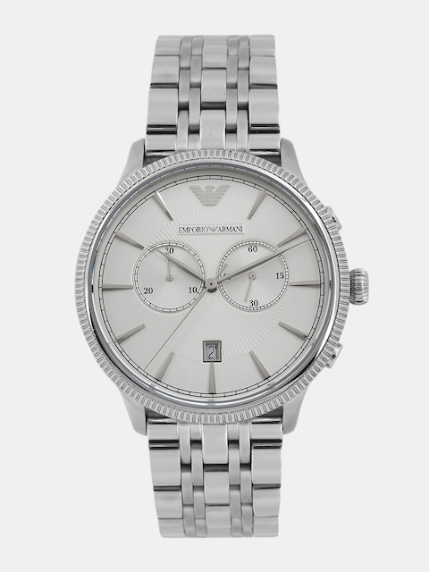 Emporio Armani Men Silver-Toned Chronograph Analogue Watch AR1796I