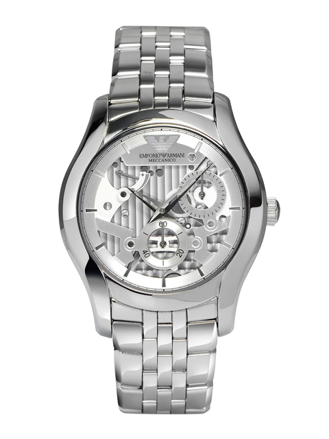 Emporio Armani Men Steel-Toned Automatic Chronograph Watch AR4676