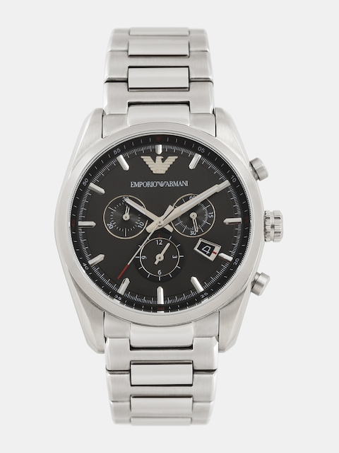 Emporio Armani Men Gunmetal-Toned Chronograph Analogue Watch AR6050I