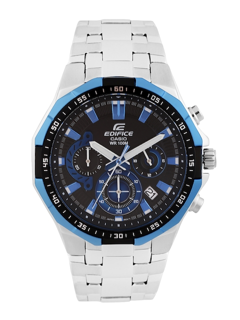 CASIO Edifice Men Black Chronograph Dial Watch EX338