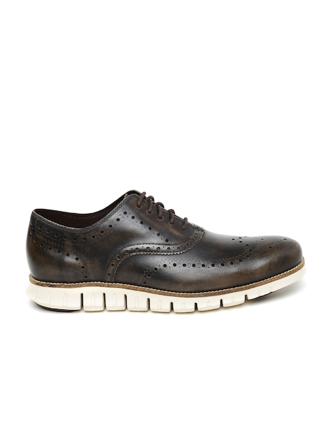 Cole Haan Men Brown Zerogrand Leather Brogues