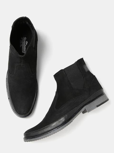 Roadster Men Black Flat Boots