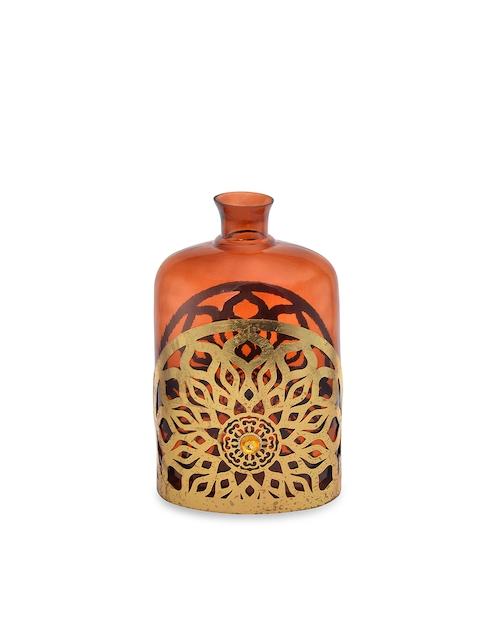 Athome by Nilkamal Brown Glass Vase