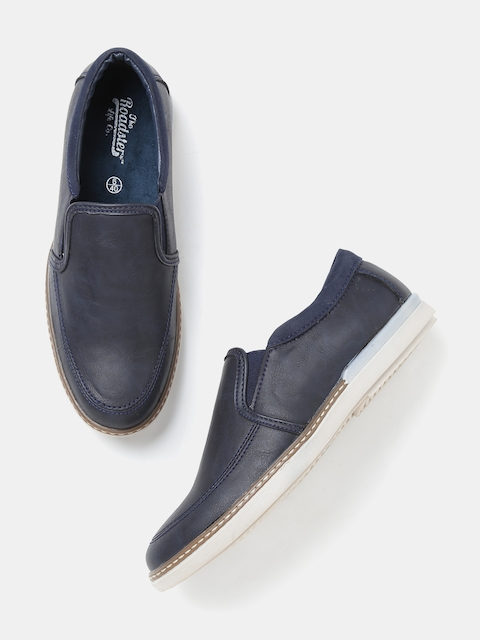 Roadster Men Navy Solid Slip-Ons  available at myntra for Rs.569