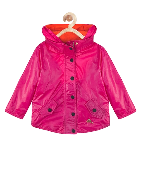 Cherry Crumble Kids Pink Hooded Jacket