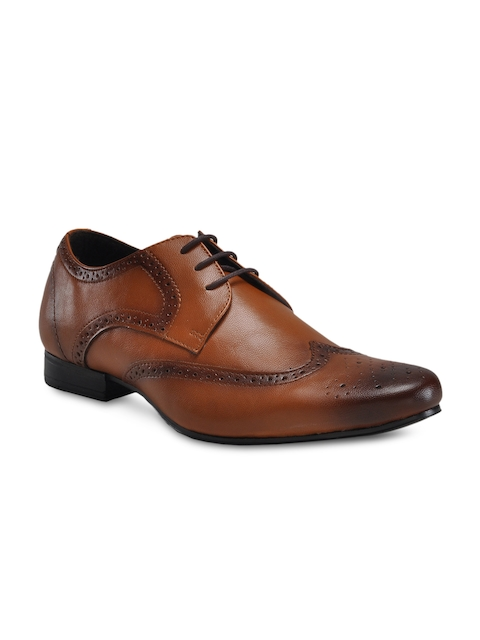 Franco Leone Men Tan Brown Brogues